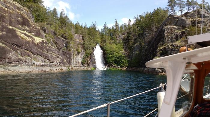 Cassel Lake Falls Teakerne Arm Marine Park, Canada. Photp Ray Penson