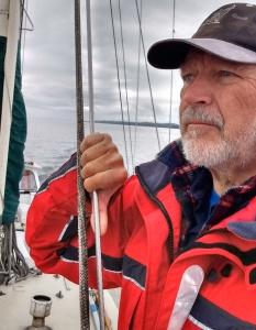 Ray Penson aboard Yacht Truce