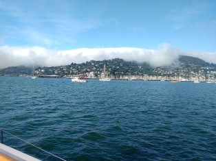 Sausalito getting Cloud Bombed Photo. Ray Penson
