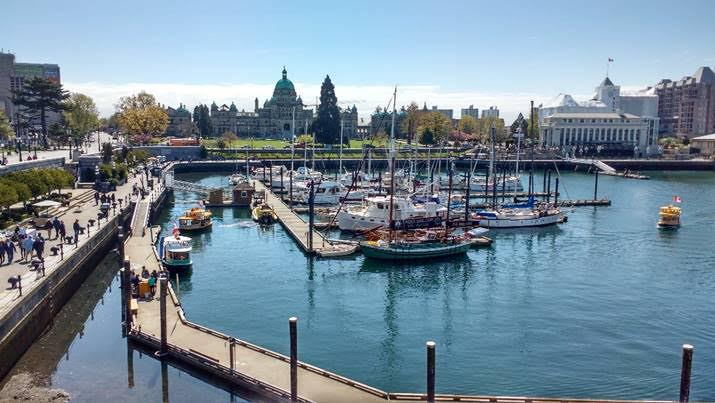 Victoria Harbour and Parliament Building. Photo by Ray Penson
