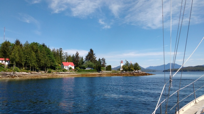 Dryad Point Lighthouse North of Bella Bella. Photo Ray Penson