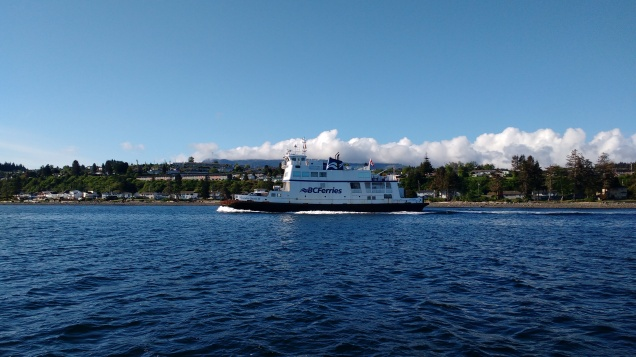 Ferry departing Port McNeill, Canada