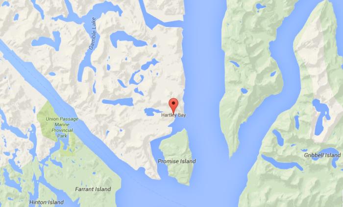 Hartley Bay, Image Google map