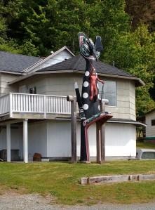 Front Lawn Decoration Port Mcneil Canada. Photo Ray Penson