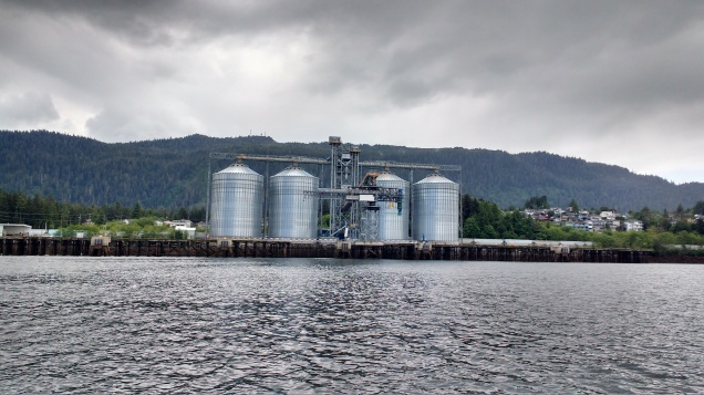 Prince Rupert Grain Silo's.Photo Ray Penson