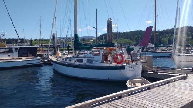 Yacht Truce at Port McNiel. Photo Ray Penson