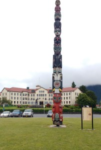 Totem Square, Sitka. Photo Ray Penson