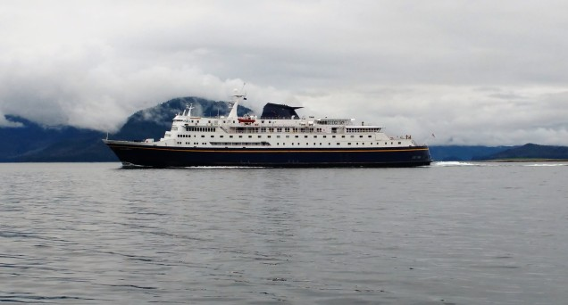 US Ferry Columbia heading to Sitka. Photo Ray Penson