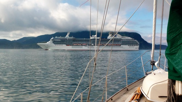 Coral Princess heading into Glacier Bay.Photo Ray Penson