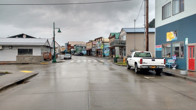 Downtown Wrangell during a non rain moment