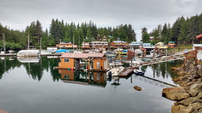 Elfin inner cove and Village.Photo Ray Penson