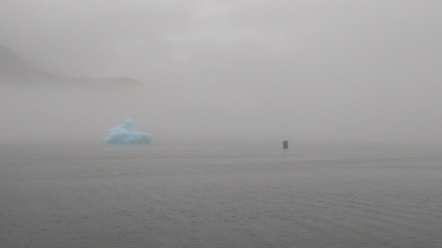 Fog Clears to Reveal Port Hand Buoy. Photo Ray Penson
