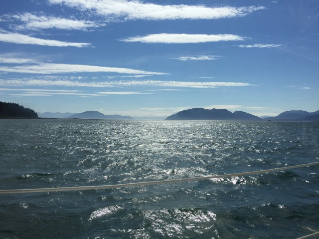 Approaching Bartlett Cove, Glacier Bay.