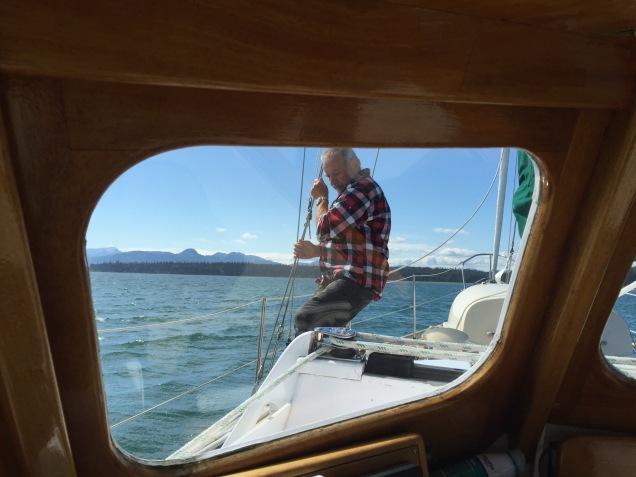 On the job, sailing adventures.