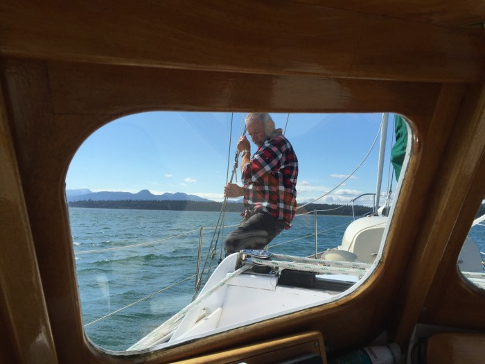 On the job, sailing adventures.