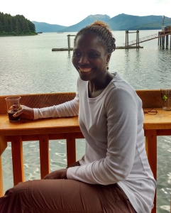 Ngozi in the Icy Strait Brewing Bar, Hoonah. Photo Ray Penson.