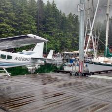 Seaplane waiting to pick up Cruise Ship Pilot. Photo Ray Penson