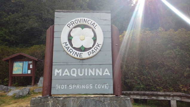 Marine Park Sign, Hot Springs Cove.Photo Ray Penson