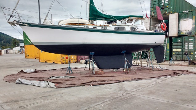 Truce antifouled and ready for the water