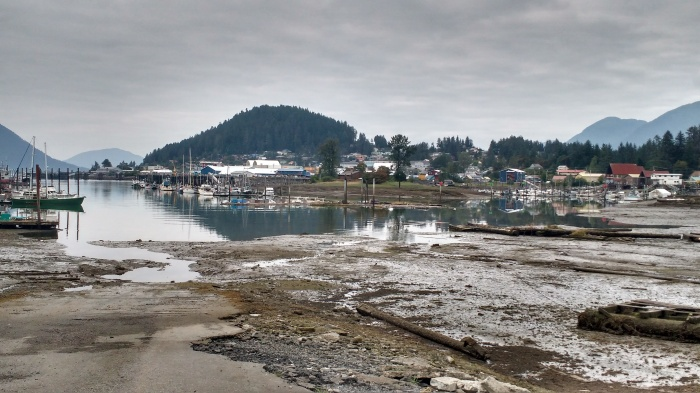 Wrangell Harbour at low water. Photo Ray Penson