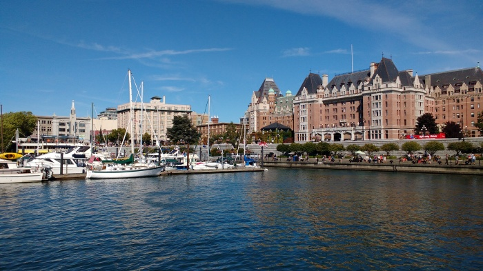 Moored opposite the Empress Hotel Victoria. Photo Ray Penson