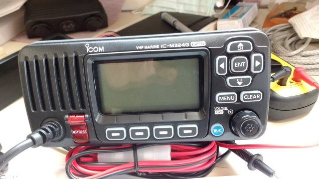 ICOM VHF waiting to be fitted