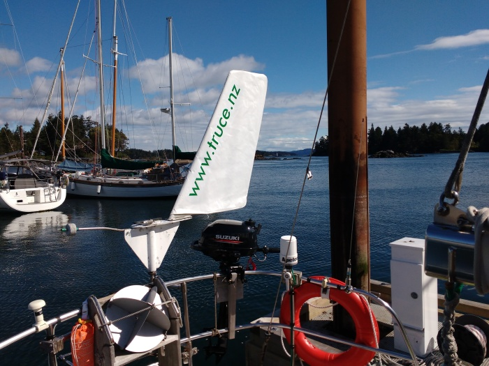 Windvane Sail Rigged, ready to go