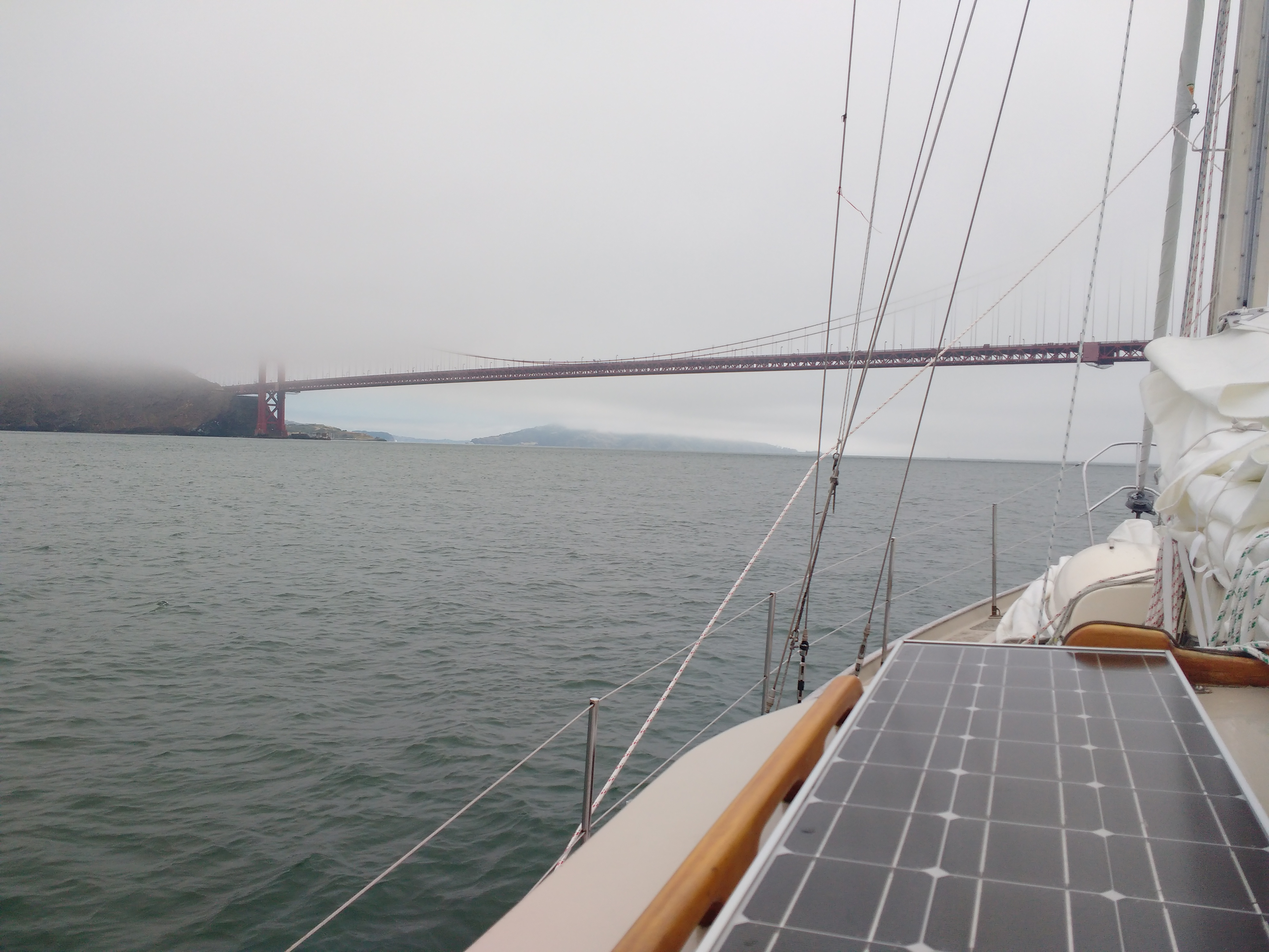 Approaching Golden Gate Bridge. Photo Ray Penson