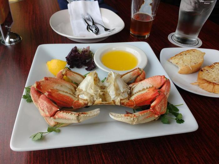 Mr Crab on a plate.