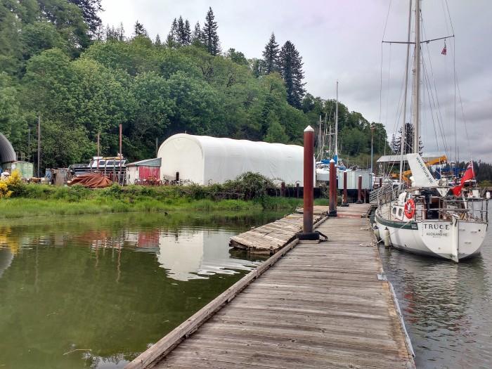 Toledo Boatyard Oregon. Photo. Ray Penson