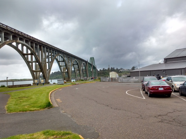 Yaquina River Bridge - Just Walked Across.Photo Ray Penson jpg
