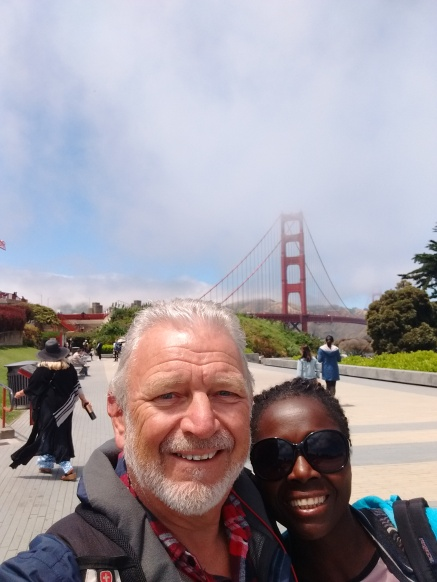Tourists at Golden Gate Bridge. Photo Ray Penson