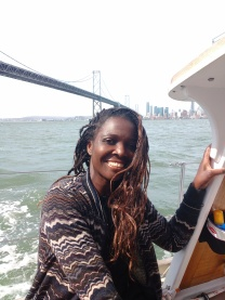 Sailing under the Bay Bridge, San Fransisco