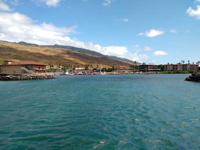 Maalaea Harbour Entrance.Truce Anchored in Lono Harbour.PHOTO Ray Penson