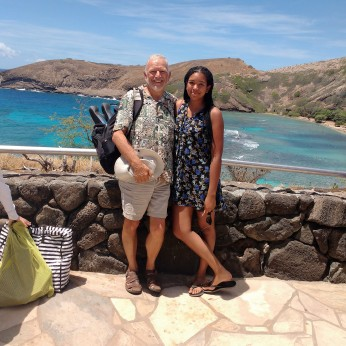 Ray and Jessica at Hanauma Bay. Photo Ray Penson jpg