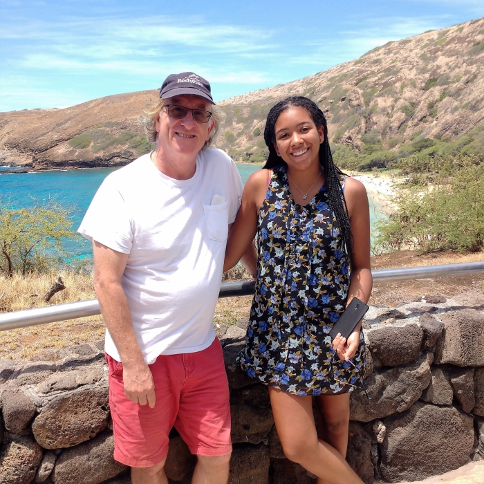 Richard and Jessica at Hanauma Bay. Photo Ray Penson