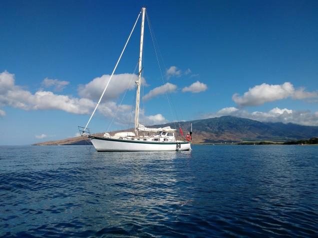 Truce Anchored in Lono Harbour.PHOTO Ray Penson