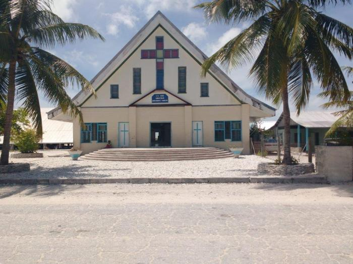 Christmas Island Church. Photo Ray Penson