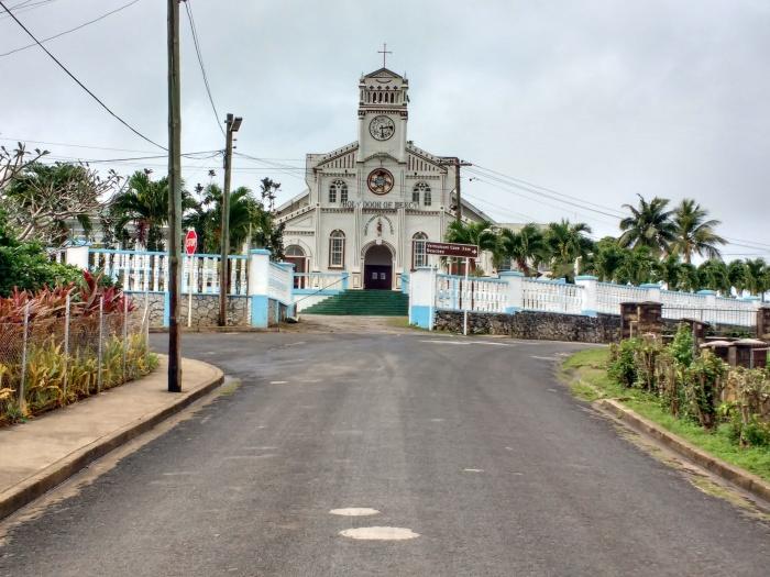 Holy Door Of Mercy Church Neiafu, Tonga. Photo Ray Penson