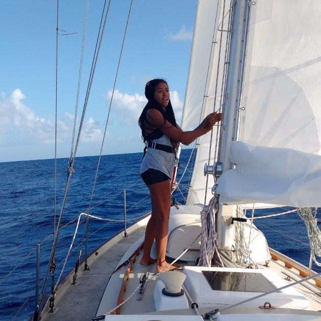 Jessica Sailing in The South Pacific