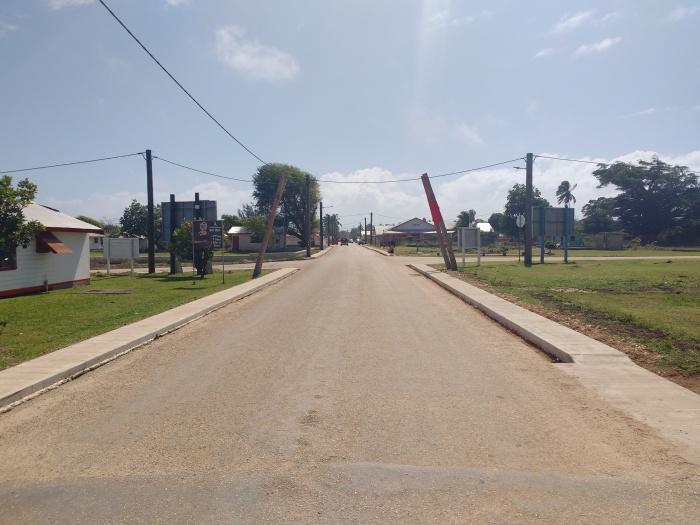 Pangai Main street. Tonga