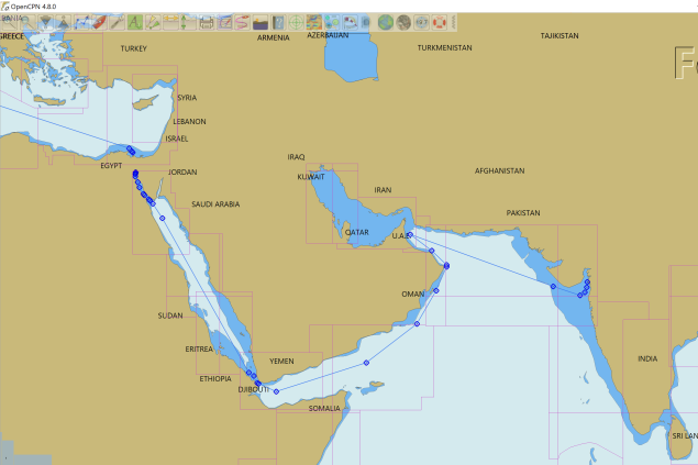Route, Suez to India Ray Penson
