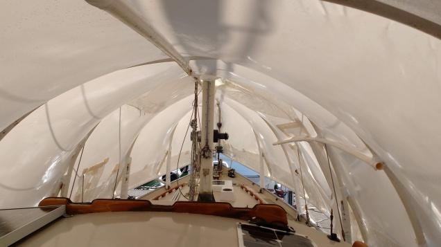 Inside Shrink Wrap. Photo, Ray Penson