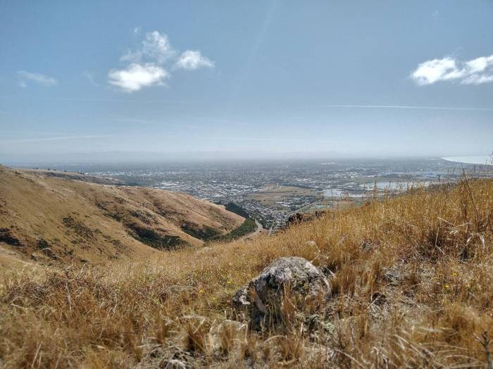Christchurch from the Port Hills. Photo Ray Penson