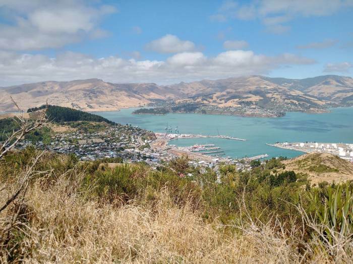 View of Lyttleton from the Port Hills Photo Ray Penson