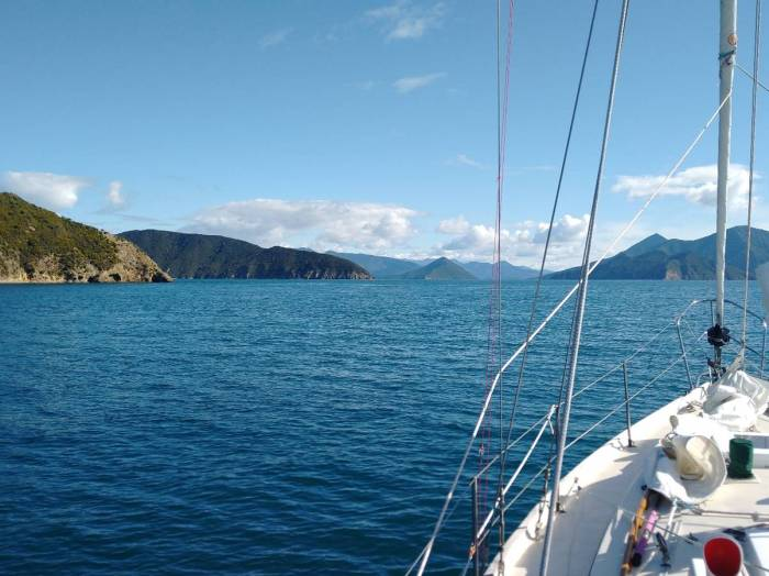 Heading South down Pelorus Sound Photo Ray Penson