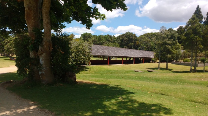 Waka shed Waitangi Grounds Photo Ray Penson