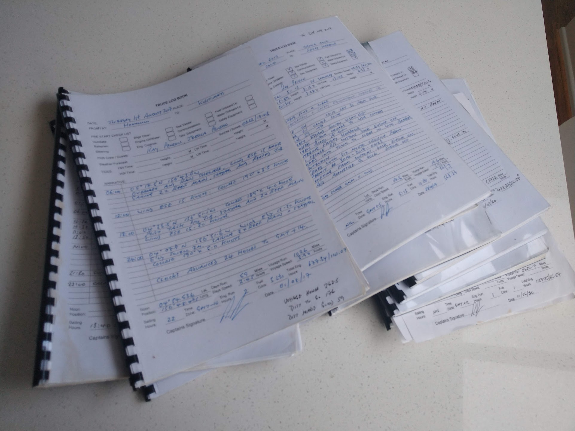 Customising Logbooks for your Yacht