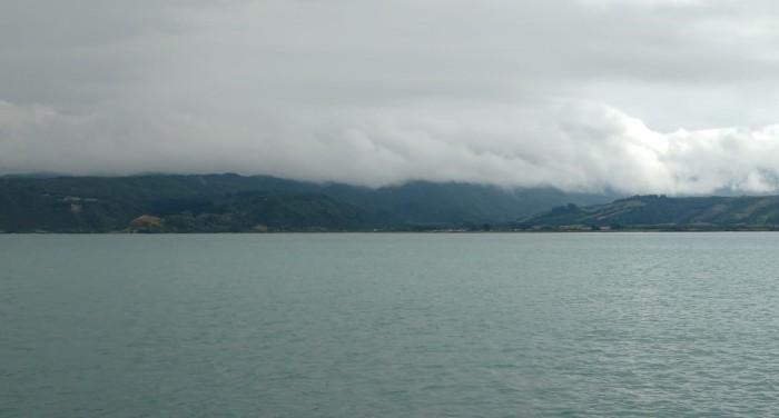 Hicks Bay dropping Astern. Photo Ngozi Penson