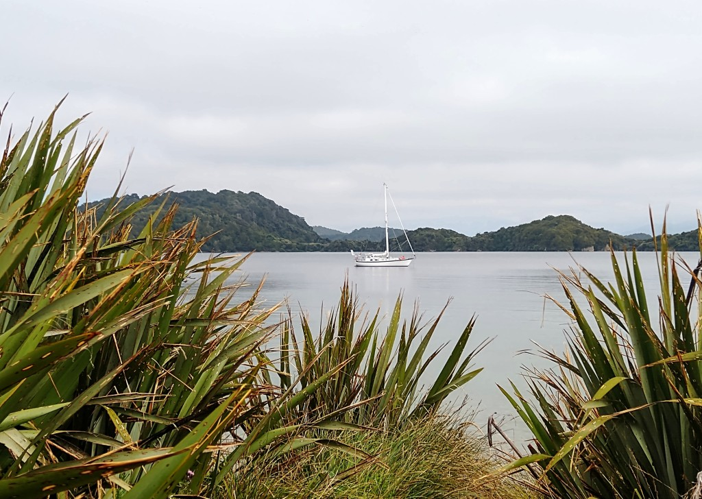 Truce anchored at Glory Cove, Paterson Inlet. Photo Ray Penson